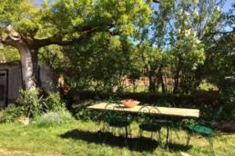 jardin exterieur du gite